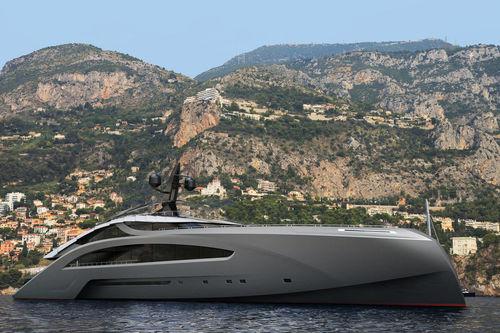 megayate de crucero / con caseta de timón / de aluminio / con helipuerto