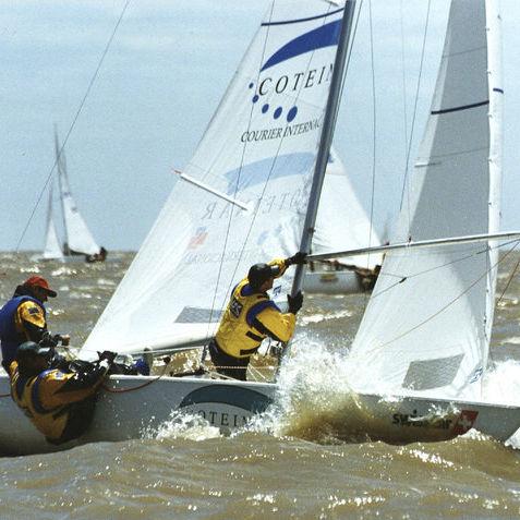 vela mayor / para barco de quilla monotipo de deporte / Soling
