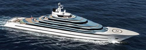 mega-yate de lujo de crucero / con caseta de timón / de desplazamiento