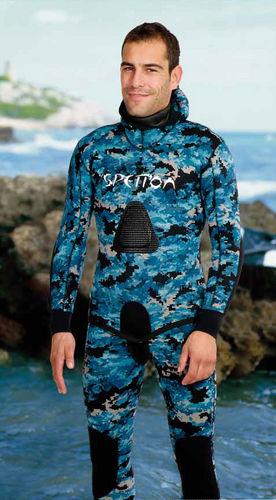 traje para pesca submarina / dos piezas / 3 mm / unisex