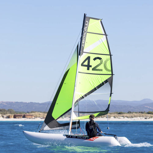 catamarán deportivo hinchable / solitario / múltiple / desmontable