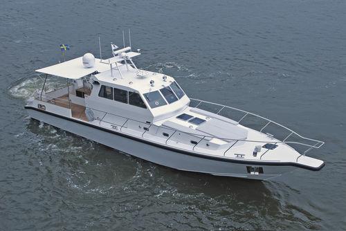 barco profesional barco de vigilancia / intraborda / de aluminio