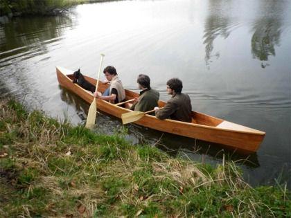 canoa de travesía / 3 plazas / de madera