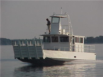 barco de desembarco / hidrojet intraborda / de aluminio