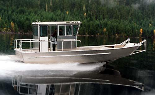 barco profesional barco de desembarco / hidrojet intraborda / de aluminio