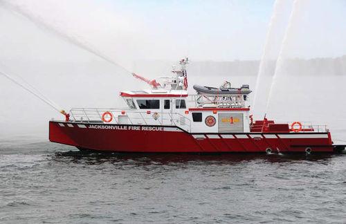 barco profesional barco de bomberos / hidrojet intraborda / de aluminio