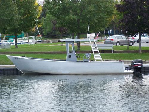 barco profesional barco de trabajo / fueraborda / de aluminio