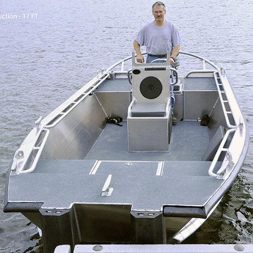 barco utilitario / fueraborda / jon boat / de aluminio