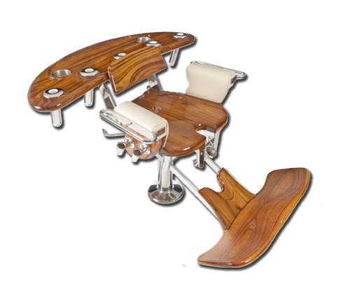 silla de combate de teca / para barco / con reposabrazos