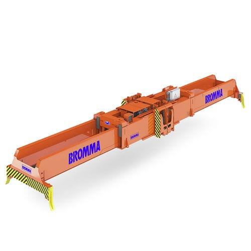 spreader para grúa apiladora / para contenedores / telescópico / de tipo twin-lift
