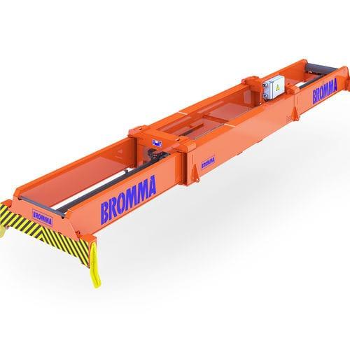 spreader para contenedores / para grúa apiladora / telescópico / eléctrico
