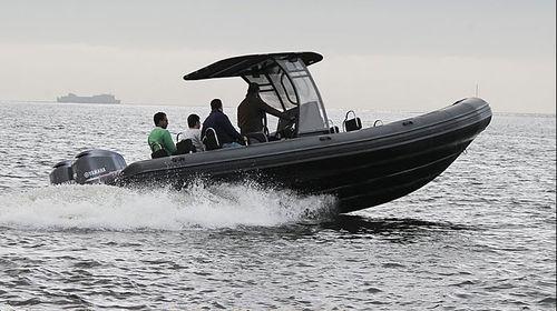 barco profesional barco de vigilancia / embarcación de apoyo al buceo / fueraborda / embarcación neumática semirrígida