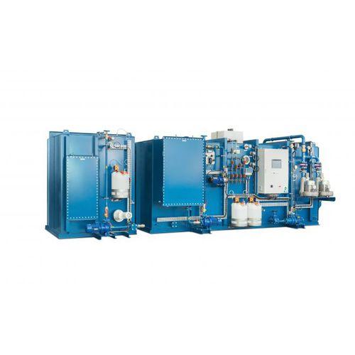 sistema de tratamiento aguas residuales / para buque / biológico / de membrana