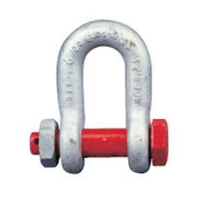grillete para buque recto / de ensamblaje para cadena de ancla / forjado / de acero inoxidable