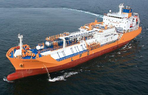buque de carga transportador de GLP