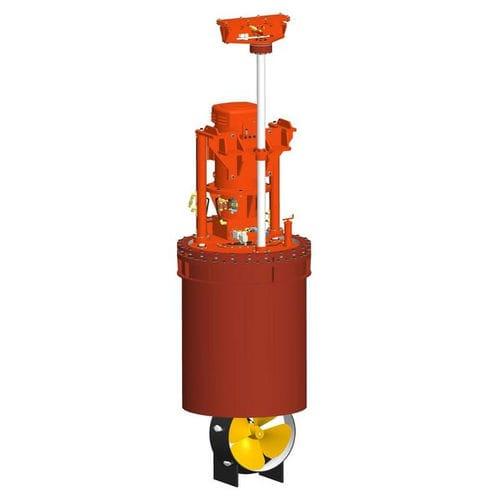 propulsor acimutal / para buque / eléctrico / retráctil