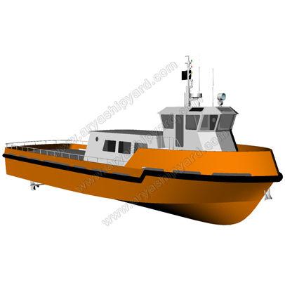 barco profesional barco de transporte logístico / intraborda / de aluminio