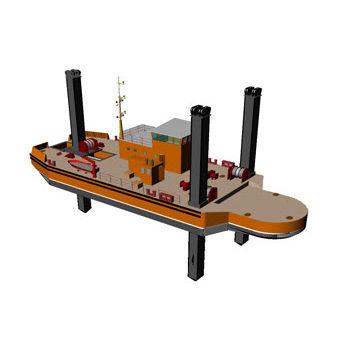 buque especial gabarra de trabajo