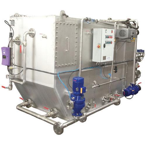 sistema de tratamiento aguas residuales / para buque / biológico