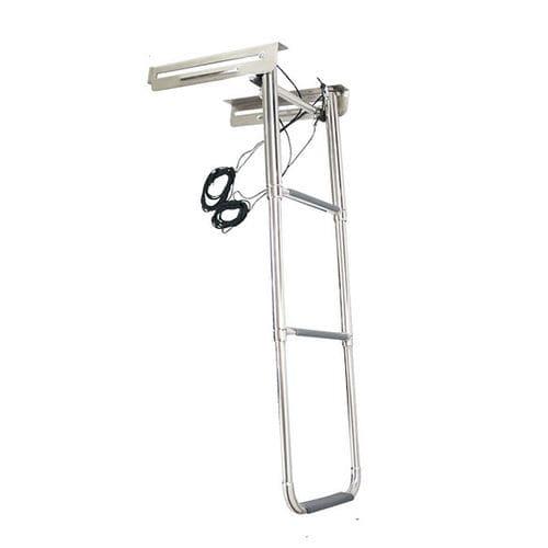 escalera para barco / abatible / telescópica / de baño
