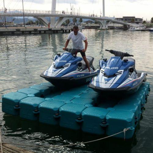 pantalán flotante / modular / de amarra / para moto de agua