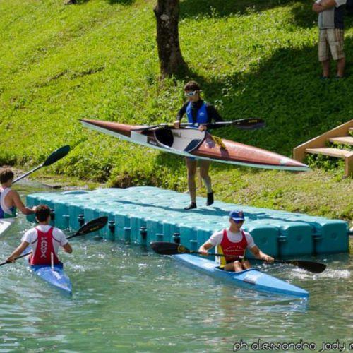 pantalán flotante / de amarra / para canoa-kayak / de plástico