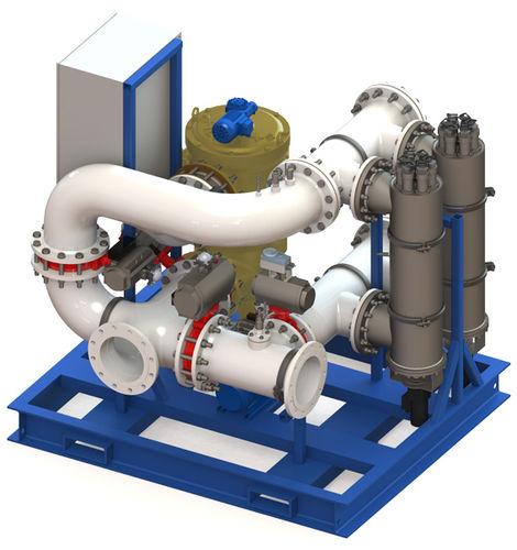 sistema de tratamiento de aguas de lastre / para buque / con filtro / con esterilizador ultravioleta