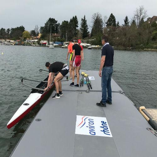pantalán flotante / de amarra / para puerto deportivo / para canoa-kayak
