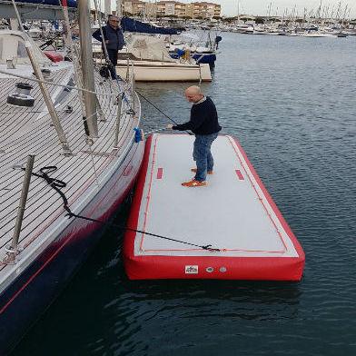 plataforma para barco / para centro de ocio / inflable / a medida