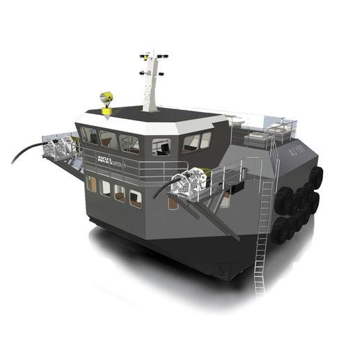 barco para acuicultura