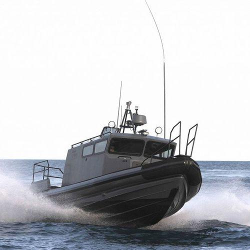 barco profesional barco de vigilancia / hidrojet intraborda / embarcación neumática semirrígida