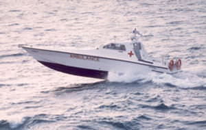 barco profesional barco ambulancia / intraborda / diésel