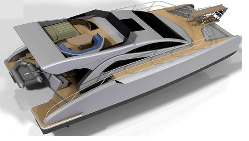 yate a motor catamarán / de pesca deportiva / con hard-top