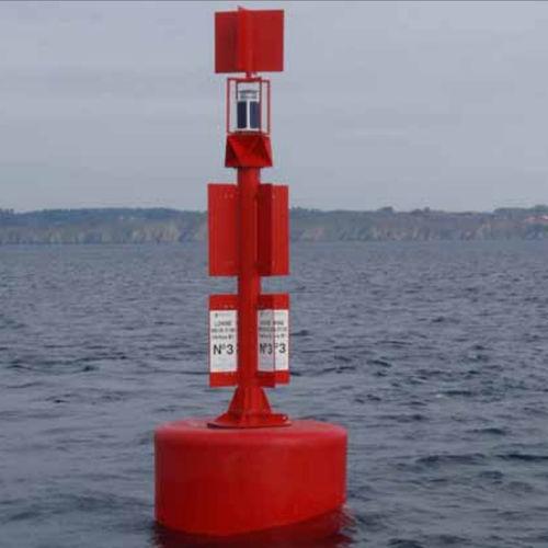 boya de balizamiento / para terminal portuaria / de acero