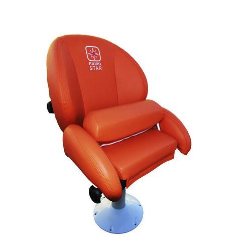 asiento piloto / para barco / abatible / respaldo alto