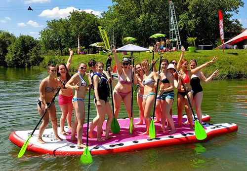 stand-up paddle-board allround / inflable / de 6 a 8 personas / de PVC