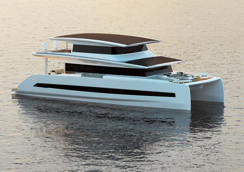 yate a motor catamarán - SILENT-YACHTS