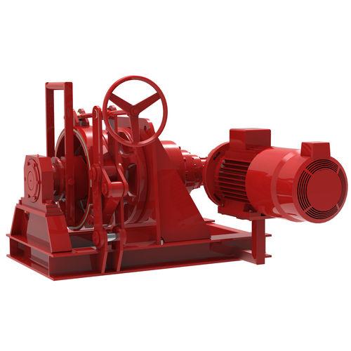 molinete para buque / horizontal / hidráulico / tambor simple