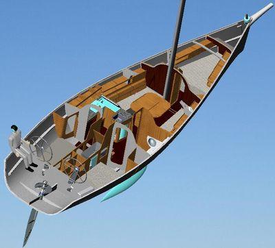 monocasco / de crucero rápido / con popa abierta / con 2 o 3 camarotes