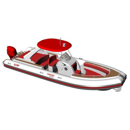 embarcación neumática fueraborda / semirrígida / con consola central / 18 personas máx.