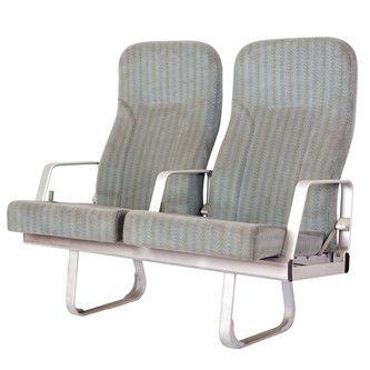 asiento para buque de pasajeros / con reposabrazos / respaldo reclinable / 2 plazas