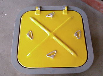 escotilla para buque / cuadrada / abrible / de aluminio