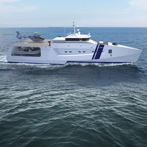 buque especial de intervención offshore / trimarán