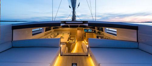 puerta para barco / para yate / corredera / con bisagra lateral