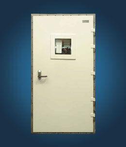 puerta para buque / semiestanca / de acero