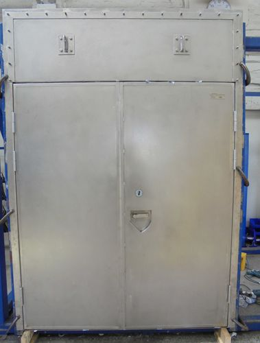 puerta para buque / A60 / doble / de acero inoxidable