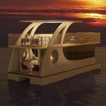 barco casa catamarán