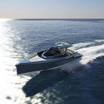 barco cabinado intraborda / bimotor / open / con consola central