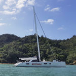 botavara para sailing-yacht / enrollador / en V / de carbono