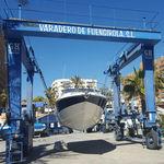grúa para yate / portuaria / para puerto deportivo / con neumáticos